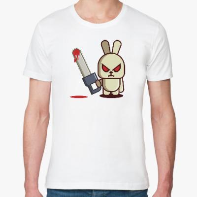 Футболка из органик-хлопка Злой кролик с пилой