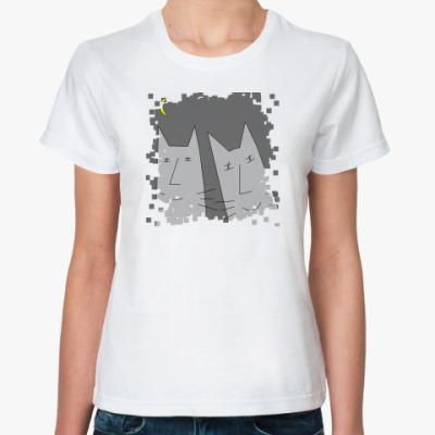 Классическая футболка Серые кисы