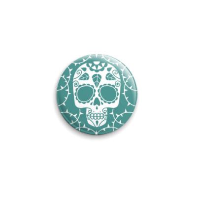 Значок 25мм Мексиканский череп