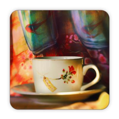 Костер (подставка под кружку) Чашка с чаем