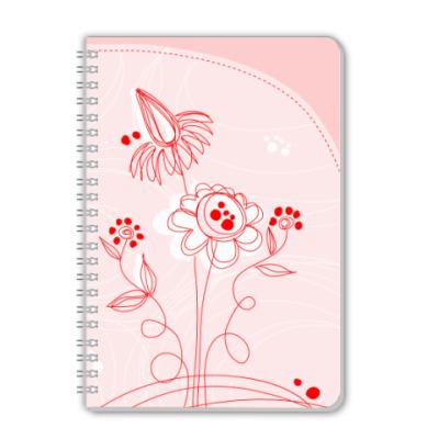Тетрадь Цветы
