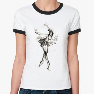 Женская футболка Ringer-T балет