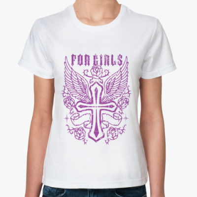 Классическая футболка For Girls