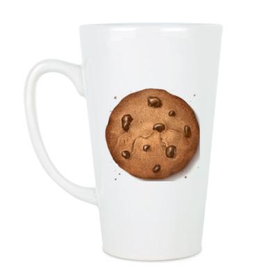 Чашка Латте Кружка  (510мл) печенька