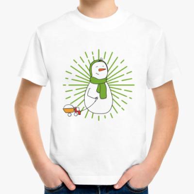 Детская футболка Мальчик-снеговик