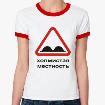 Женская футболка Ringer-T Холмистая местность