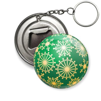 Брелок-открывашка Елочная игрушка