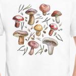 Принт с лесными грибами