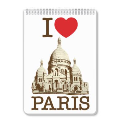 Блокнот Я люблю Париж
