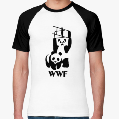 Футболка реглан  WWF