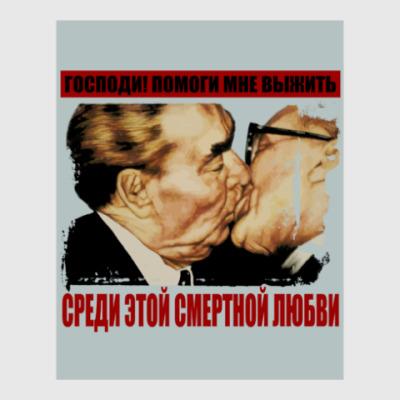 Постер Братский поцелуй Брежнева