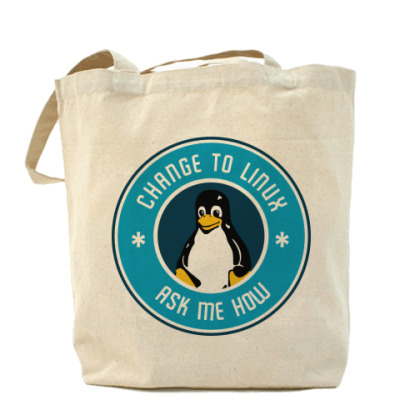 Сумка Change to Linux пингвин Tux