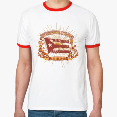 Футболка Ringer-T  Cuba flag