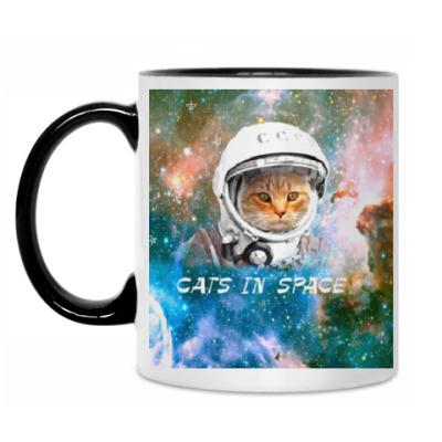 Кружка Кот в космосе