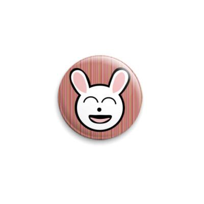 Значок 25мм  funny bunny