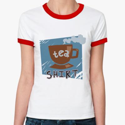 Женская футболка Ringer-T tea