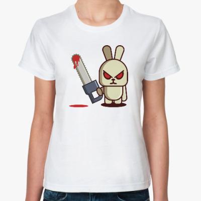 Классическая футболка Злой кролик с пилой