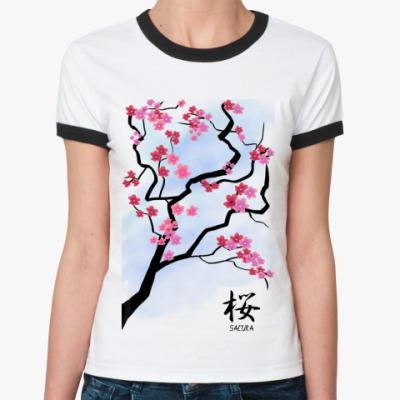 Женская футболка Ringer-T Сакура