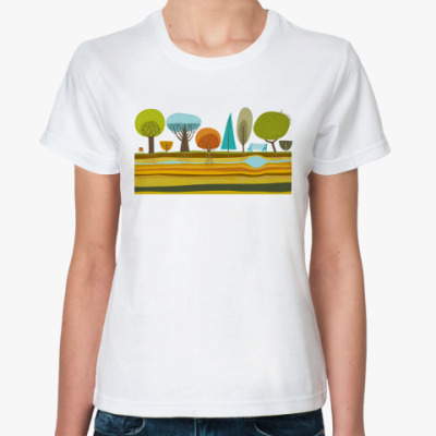 Классическая футболка Деревья