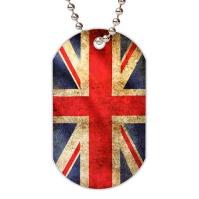 Жетон dog-tag  Британский  Флаг
