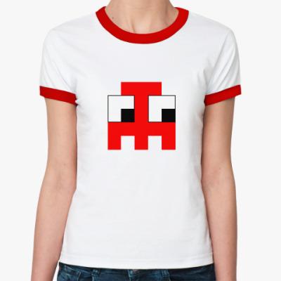 Женская футболка Ringer-T  «Привидение»