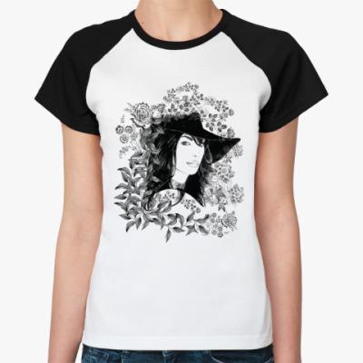 Женская футболка реглан Девушка