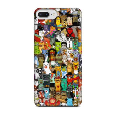 Чехол для iPhone 7 Plus Кошачий коллаж
