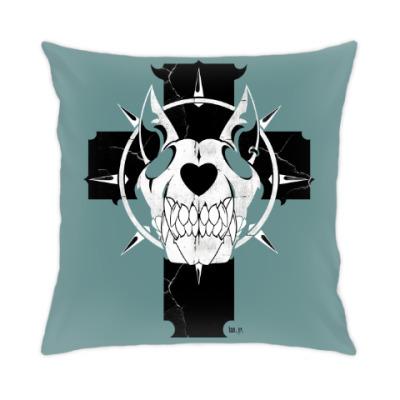 Подушка Dog skull
