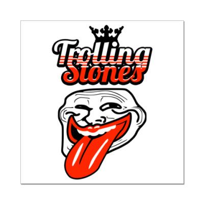 Наклейка (стикер)  Trolling Stones