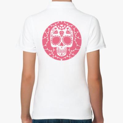 Женская рубашка поло Мексиканский череп