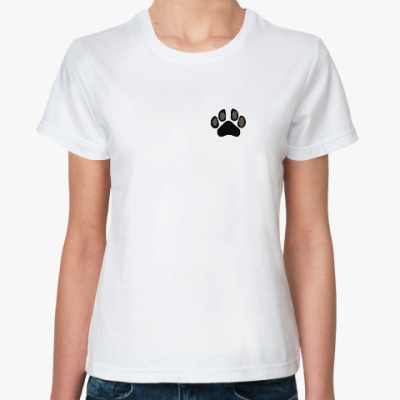 Классическая футболка Кошачья лапка