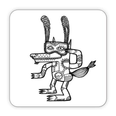 Костер (подставка под кружку) Прикинься зайцем