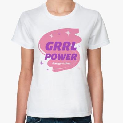 Классическая футболка Grrl Power