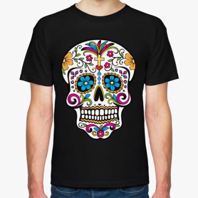 Футболка Мексиканский череп Calavera