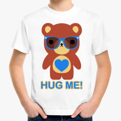 Детская футболка  Мишка мальчик