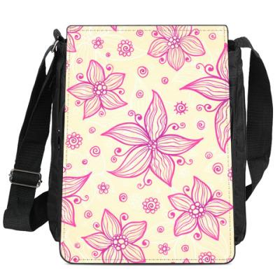 Сумка-планшет Розовые цветы