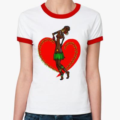 Женская футболка Ringer-T Любовь