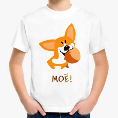 Детская футболка Корги Шкодная, носяка сумасбродная!