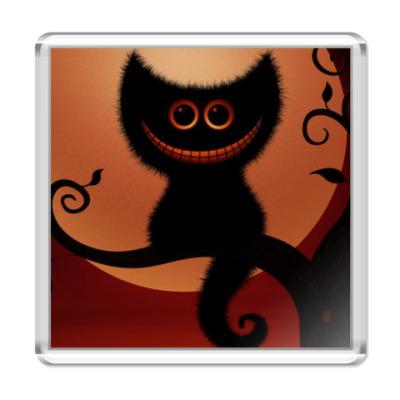Магнит  Чеширский кот во тьме