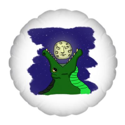 Подушка Крокодил и луна