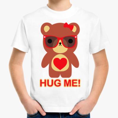 Детская футболка  Мишка девочка