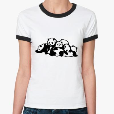 Женская футболка Ringer-T Панды