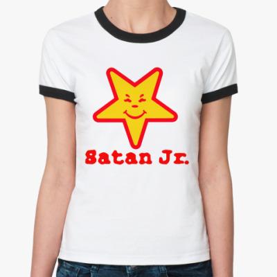Женская футболка Ringer-T Satan Jr.