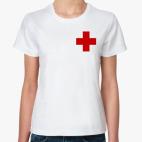 Классическая женская футболка  «Красный Крест»