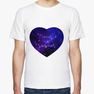 Футболка Любовь - это космос, сердце