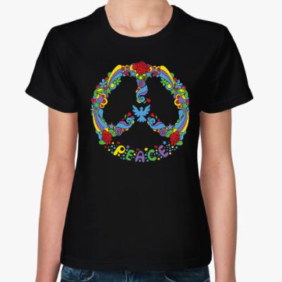 Женская футболка Символ мира