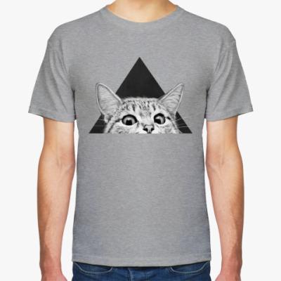 Футболка Кот в треугольнике