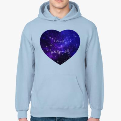 Толстовка худи Любовь - это космос, сердце