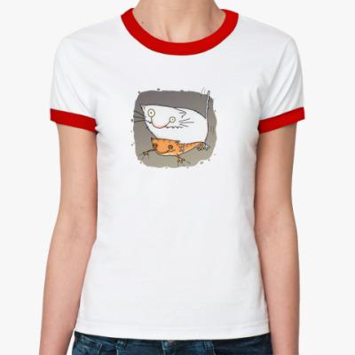 Женская футболка Ringer-T  ж Март