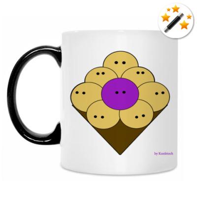 Кружка-хамелеон Purple people